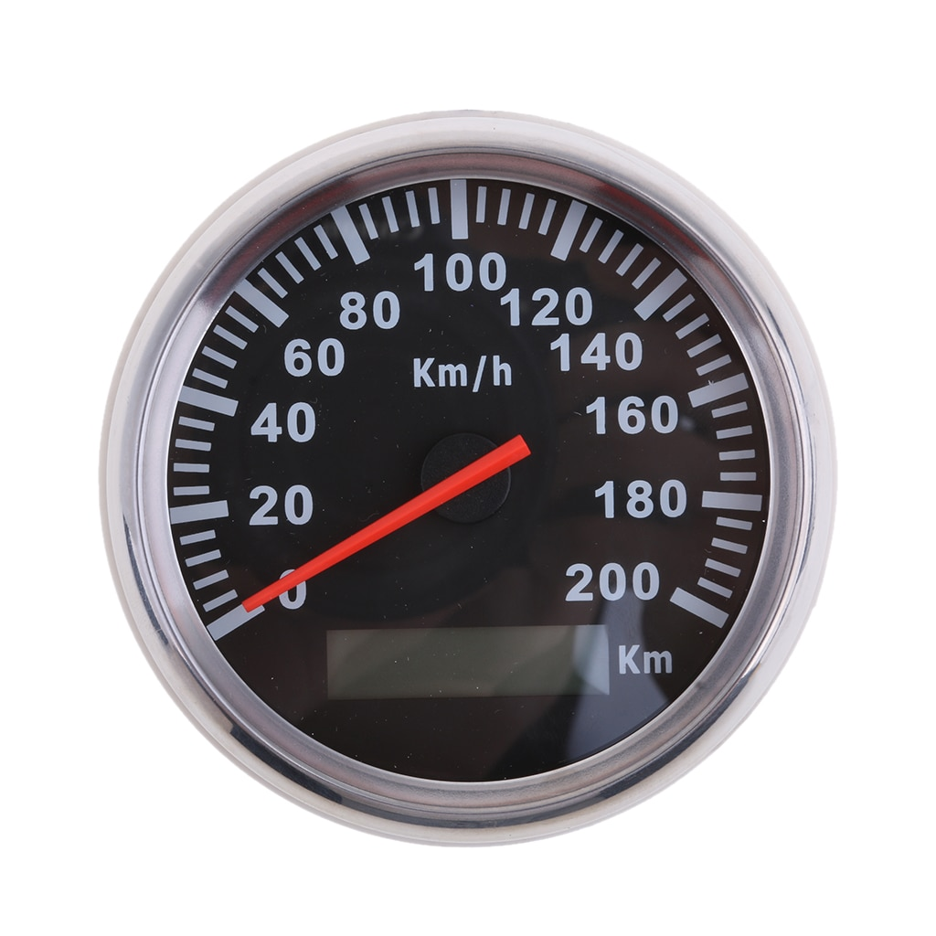 Universal 85mm velocímetro 200 km/h odómetro para coche camión motocicleta barco yate impermeable IP67 9 ~ 32V acero inoxidable