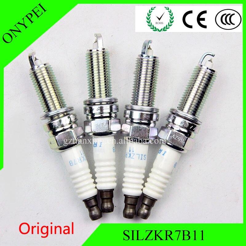 Original 4 unids/lote SILZKR7B11-9723 laser Iridium macho SILZKR7B-11 bujías para Hyundai SILZKR7B11 9723 SILZKR7B 11