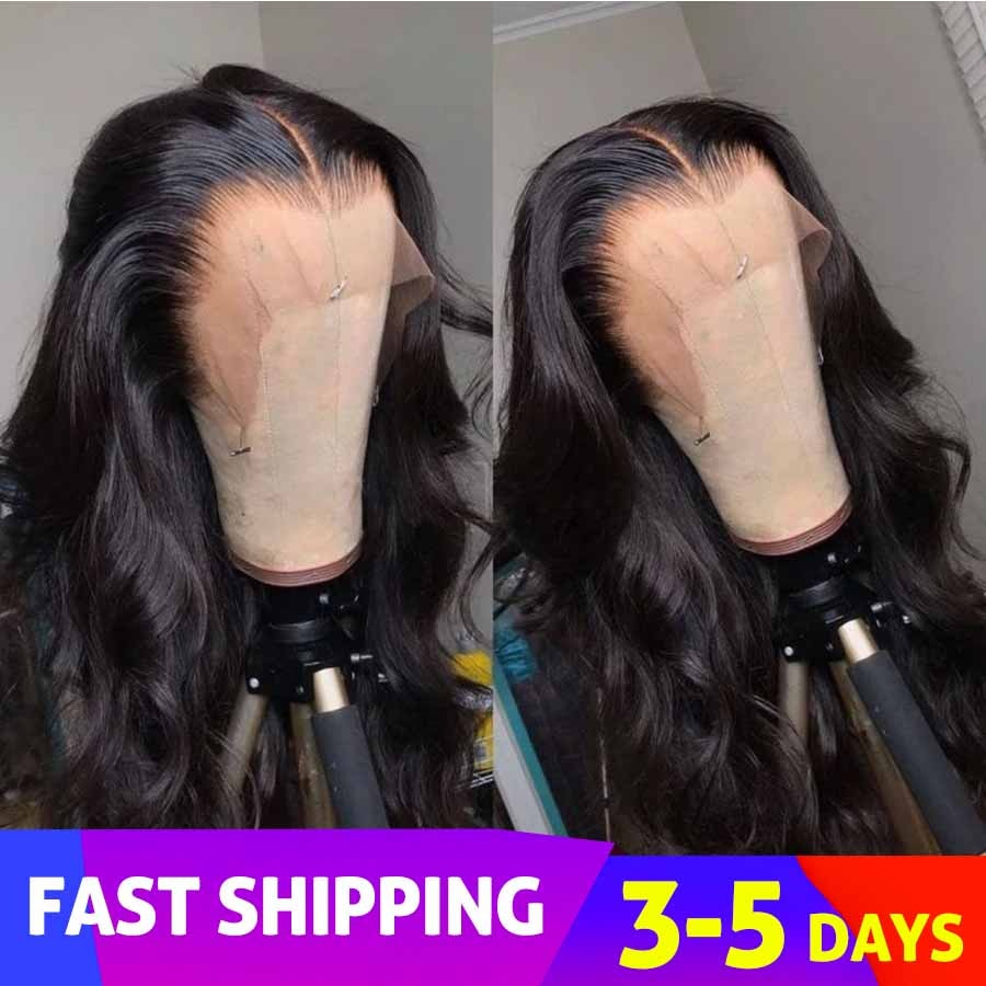 Beeos Invisible Transparent 13*4 Full HD Lace Front Human Hair Wigs Body Wave Pre Plucked Bleached Knots Brazilian Remy Lace Wig