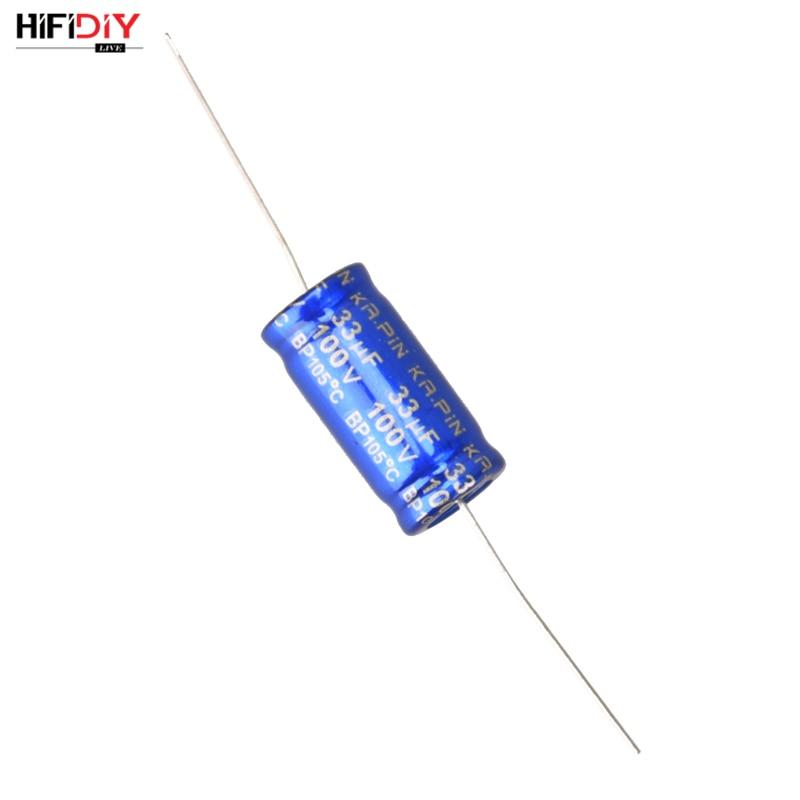HIFIDIY LIVE Blue electrolytic capacitor non-polar frequency divider capacitor AUDIO 12uf 15uf 20uf 22uf 30uf 33uf 47uf 68 100uf