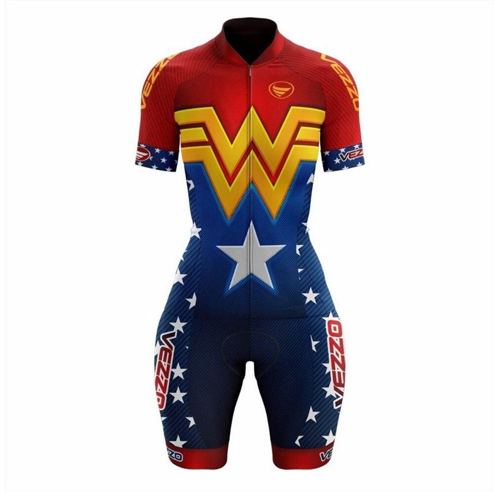 VEZZO-Ropa de Ciclismo para Mujer, Kit de envoltura corta, Conjunto de Jersey...