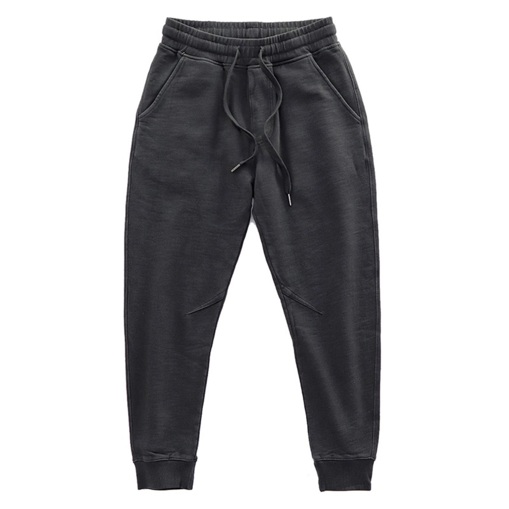 Тяжелые Трикотажные мужские штаны в американском ретро стиле, зимние спортивные штаны с флисовой подкладкой, штаны для отдыха, спортивные ш...