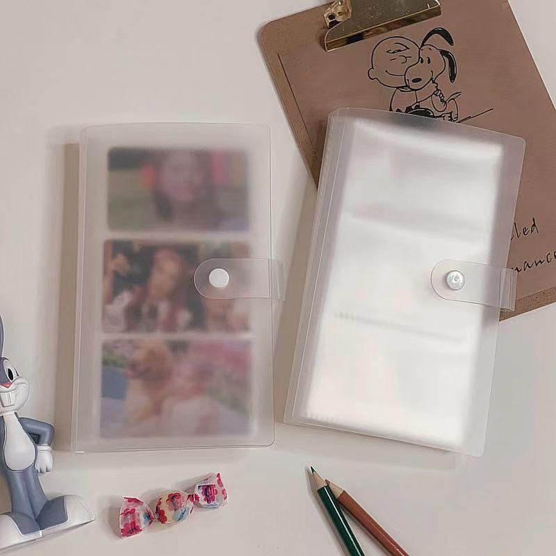 a6 claro binder kpop photocard strorage saco pp fosco cartao de visita titular cartoes