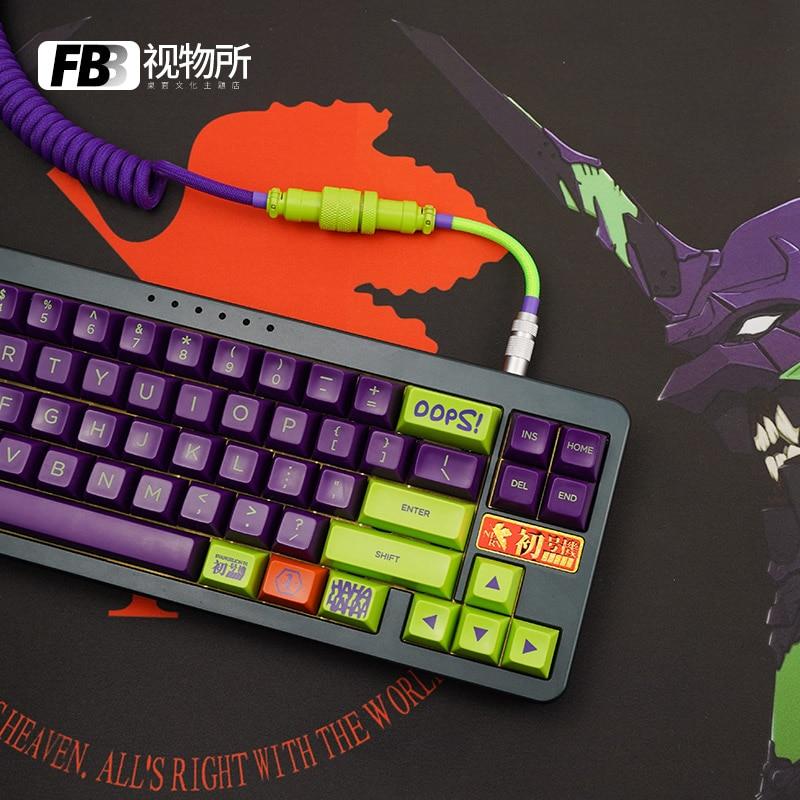 FBB الكابلات إيفا رقم 1 آلة الأصلي كابل بيانات مخصصة يدويا تخصيص لوحة المفاتيح الميكانيكية خط Keycap GMK موضوع نوع C