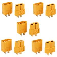 Amass 5 pares xt60 XT-60 rc bateria esc motor parte macho fêmea bala conectores plug