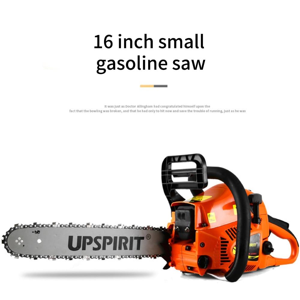 Бытовая 16-дюймовая маленькая бензиновая пила, цепная пила высокой мощности, цепная пила, садовая цепная пила