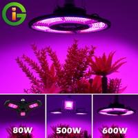 Светодиодный фитолампа AC100-277V 60 Вт 80 Вт 100 Вт E27 полный спектр светодиодный светильник для выращивания в помещении водостойкий для растений