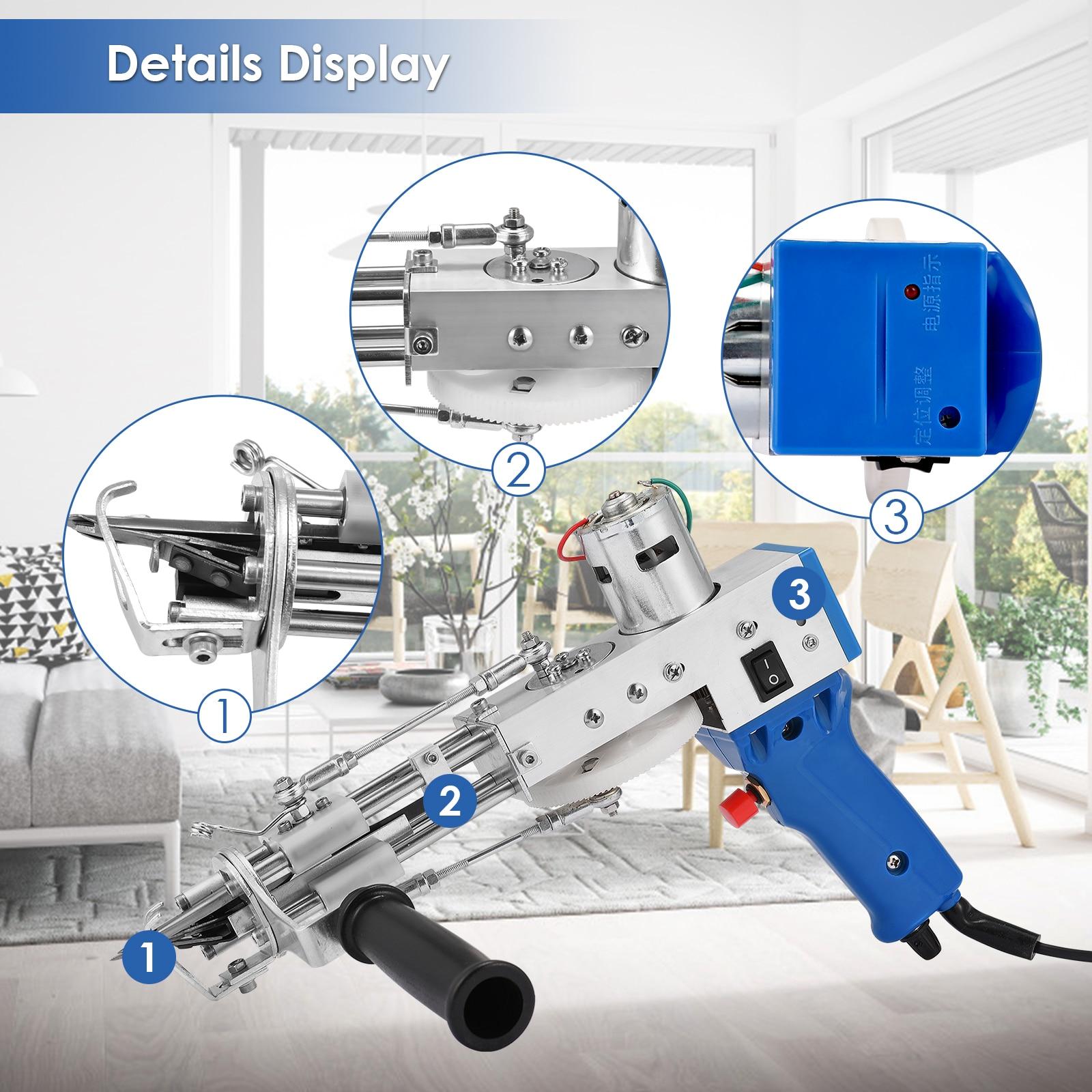 Electric Carpet Tufting Gun Carpet Weaving Machine 100-240V Flocking Machine Hand-Held Industrial Tufting Gun Rug Making Tools enlarge
