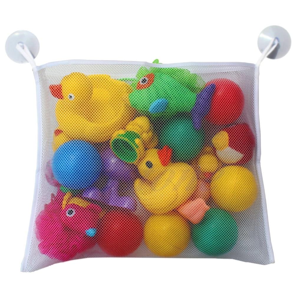 Baby Bath Time Cute Toy Tidy Storage Suction Cup Bag Mesh Bathroom Organiser Net
