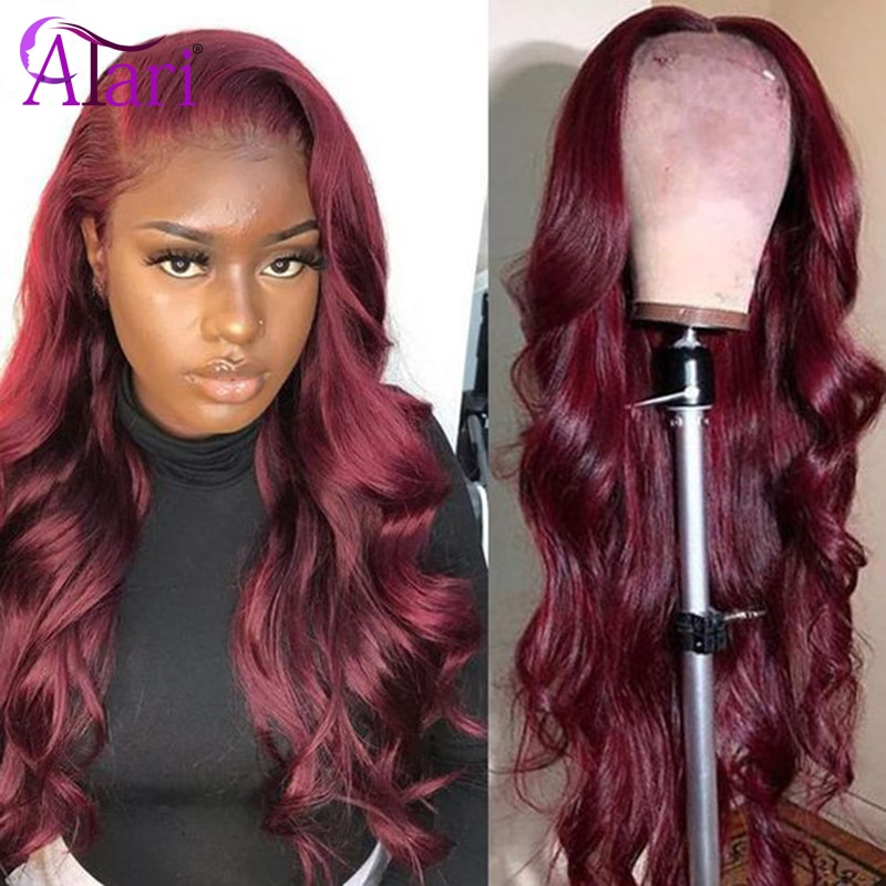 Ombre 99J Red 13X4 13x6 Lace Front Wigs Body Wave Transparent Lace Wigs Brazilian Virgin Hair Full Lace Wigs Glueless Atari hair