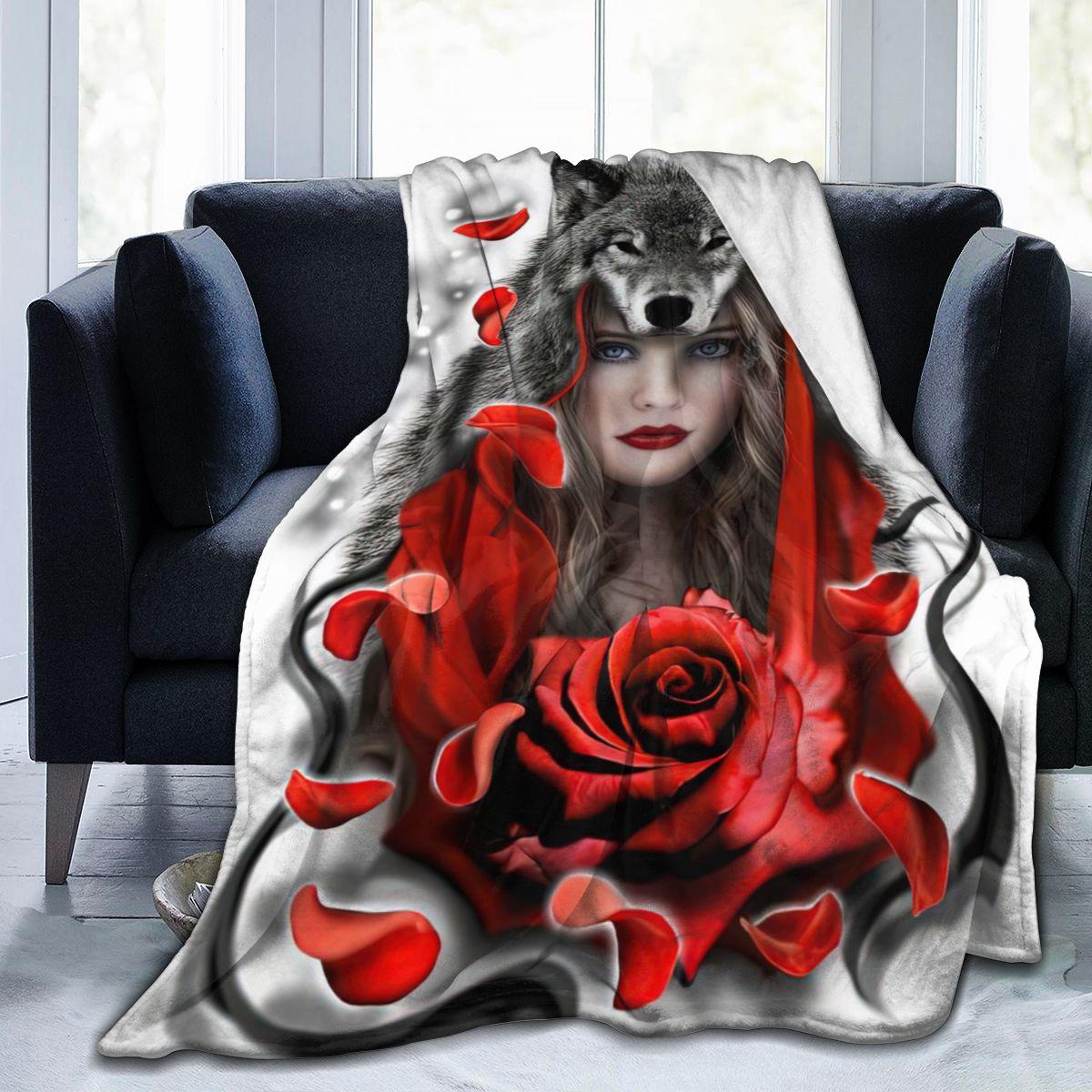 Красивые Волк мультфильм ультра мягкое одеяло сублимации мультфильм версии одеяло постельные принадлежности фланелевый банный халат с ка...