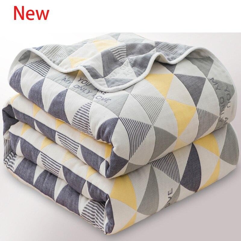 6 couches 100% mousseline coton bébé couvertures pour nouveau-né doux bébé Swaddle ensemble bébé mois couverture bébé chariot couverture enfant couette