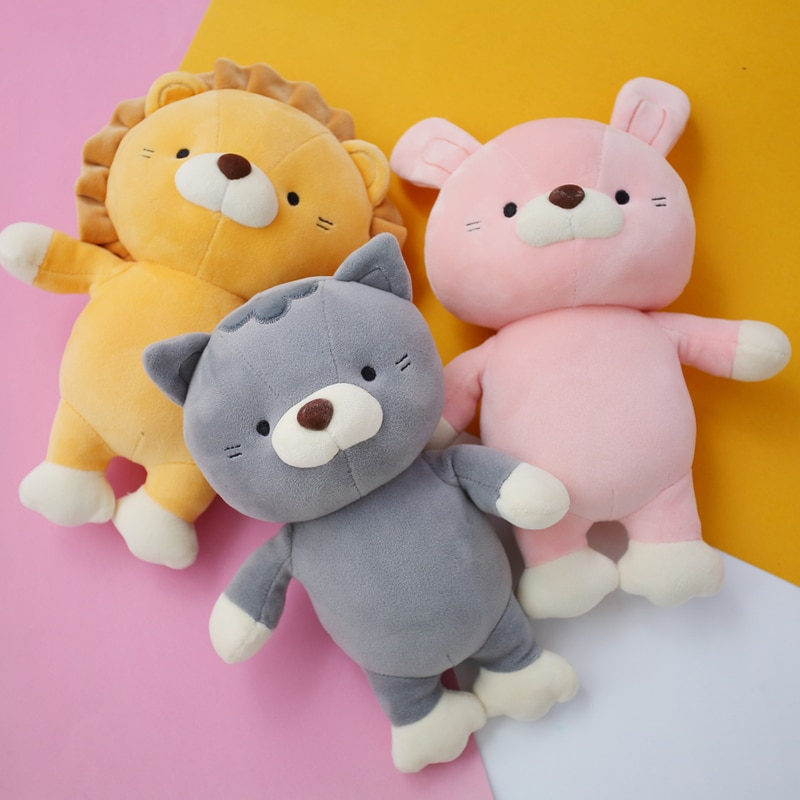 new arrive cat with fish pattern plush toy baby soft plush toys for children stuffed animal cat plush toy gift for kids birthday 23cm plush toy cute animal soft stuffed doll Lion Cat Rabbit kids toys birthday christmas gift for children