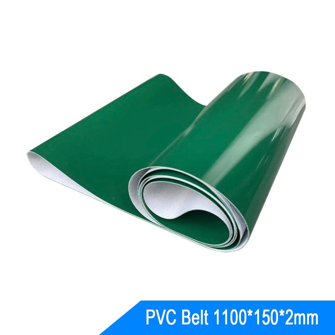 black treadmill pvc conveyor belt PVC Conveyor Belt Green Glossy Pipeline Ring Belt Non-Slip Wear-Resistant Transportation Belt
