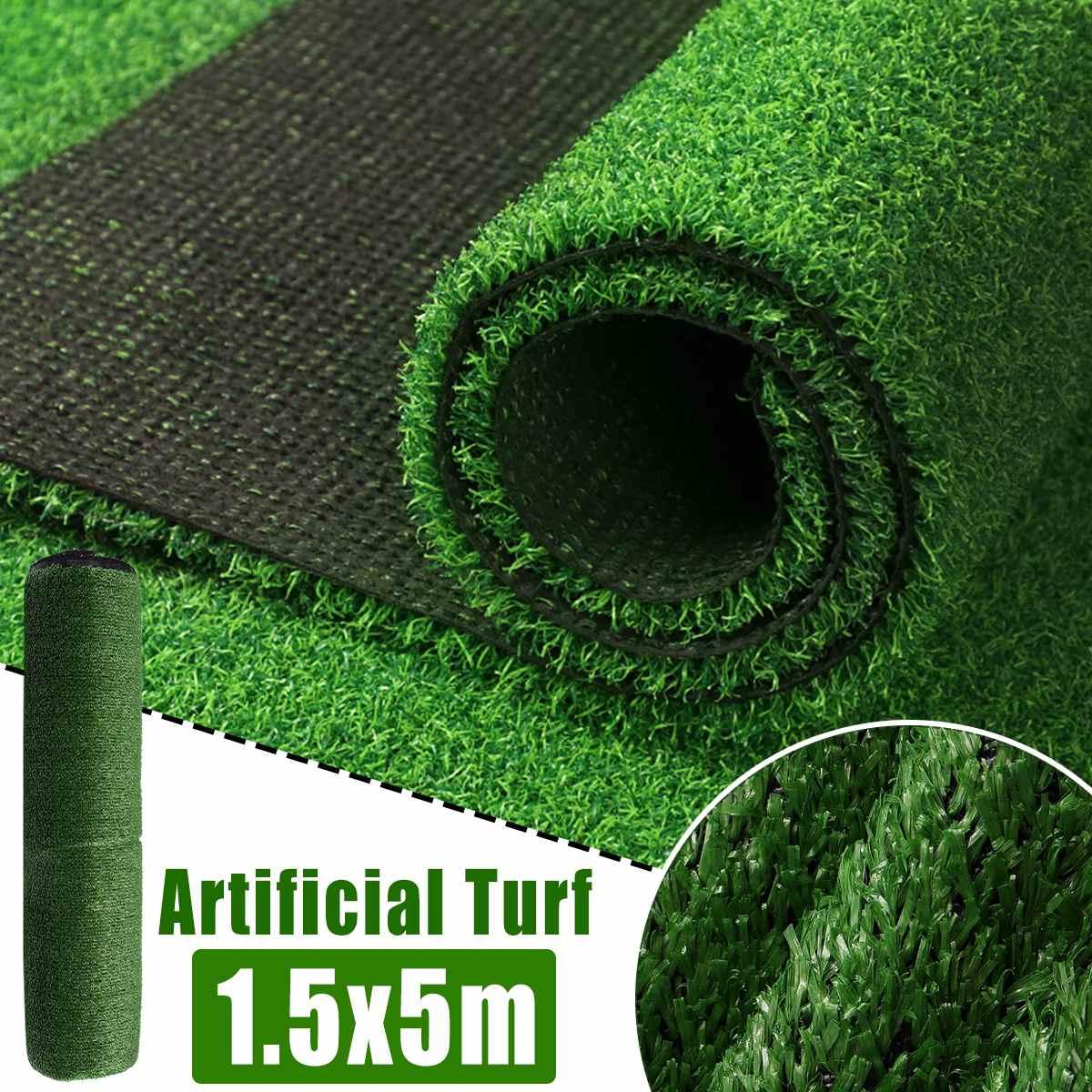 5M yapay sentetik sahte çim çim plastik yeşil bitki çim bahçe dekor dayanıklı hiçbir kirlilik