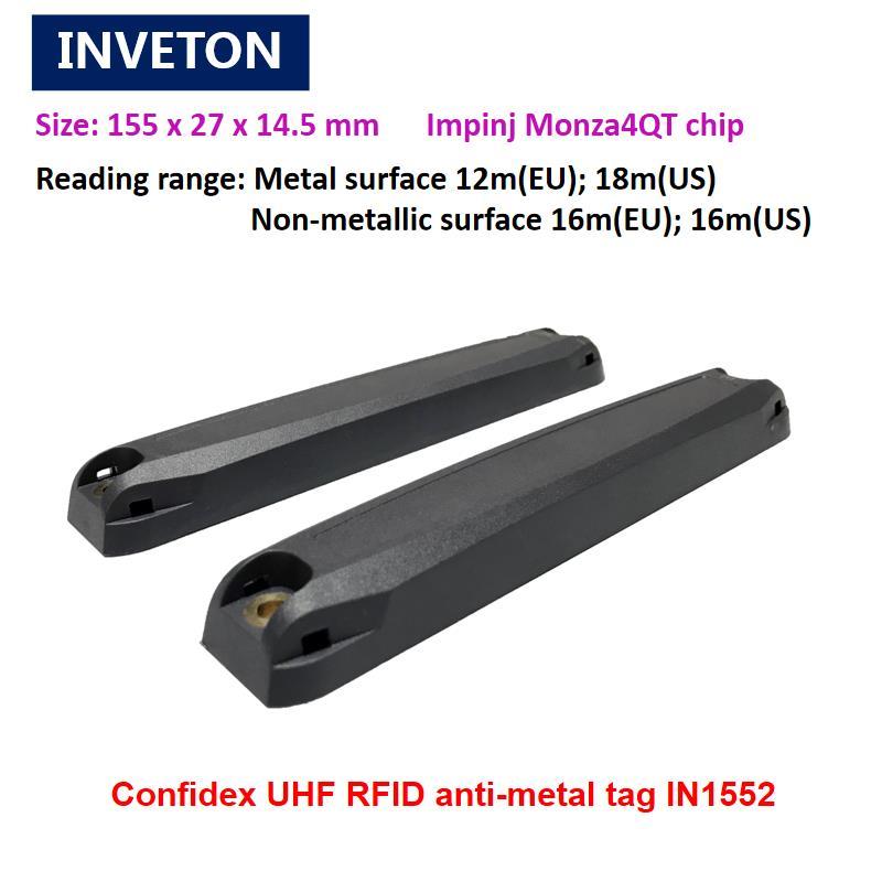 De largo alcance a 15M de uhf rfid anti etiqueta de metal pasivo epc de memoria de 128bits gen2 etiqueta impinj monza 4QT chip de la UE y nosotros 902-928 MHZ