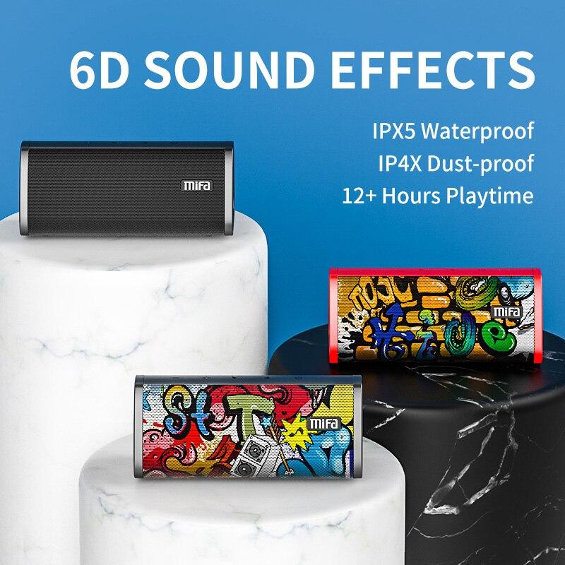 Mifa Bluetooth speaker Portable Wireless Loudspeaker Sound System 10W stereo Music surround Waterproof Outdoor Speaker enlarge