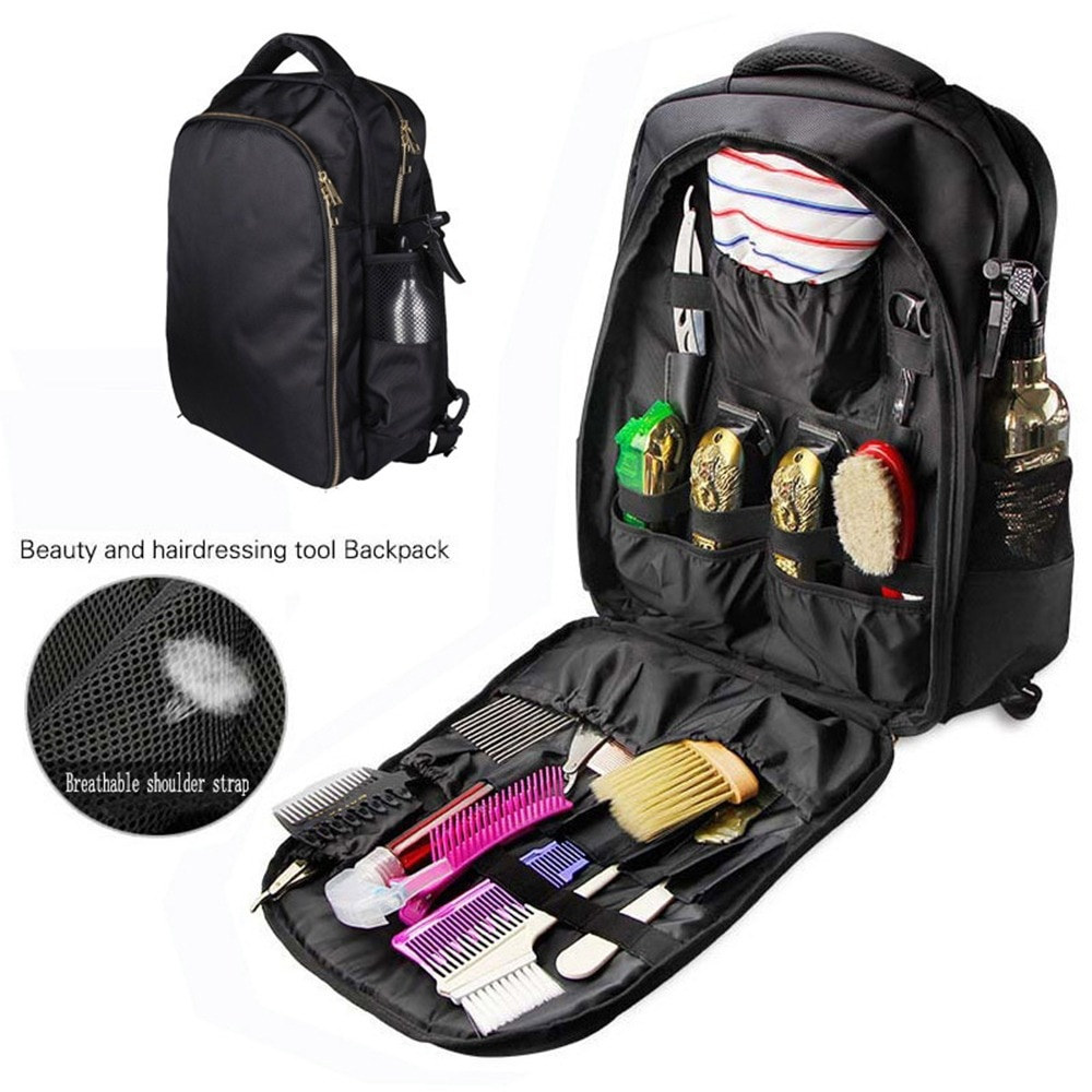professional salon hair tool bag zebra hairdressing bag portable carry case tool case for hair styling tools storage clipper box Multi-purpose Hairdressing Tool Backpack Waterproof Barber Scissors Bag Luggage Storage Case Hair Cutting Tools Organizer Bag