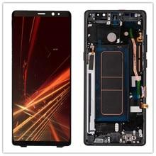 100% Original AMOLED 6.3 LCD avec un petit spot LCD pour SAMSUNG Galaxy Note8 N9500 SM-N950F LCD écran tactile numériseur assemblée