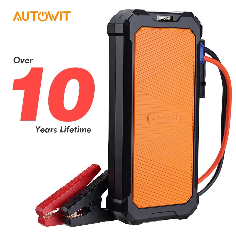 Autowit سيارة Jumpstarter 2 ، 12 فولت بطارية أقل المحمولة SuperCap (يصل إلى 7.0L الغاز ، 4.0L Diese) المحرك كاتب اكسسوارات السيارات