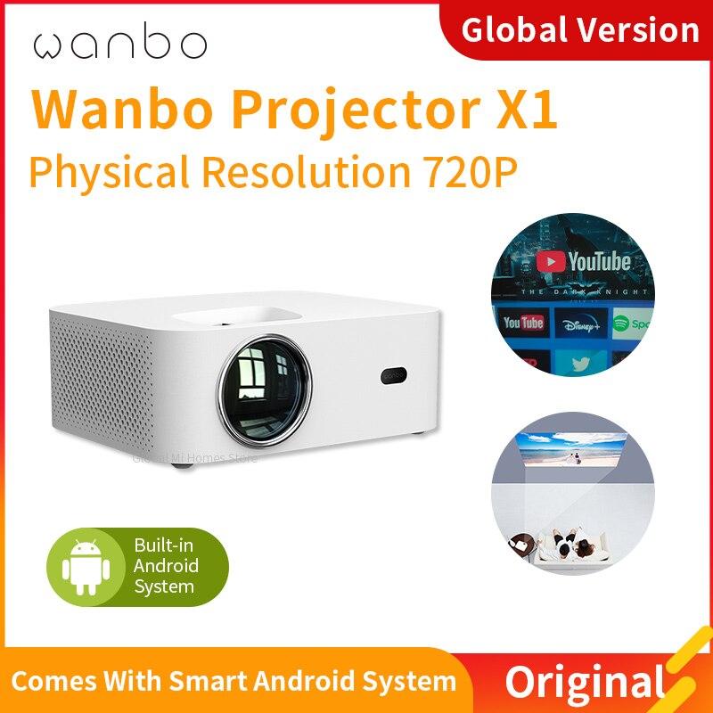 Projector 4K Global Wanbo Mini Projector X1 Video Projector Protable Lcd Projector IOS Anroid Ipad f