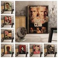 classic movie fight club poster retro art decor decor kwaliteit canvas schilderij woonkamer home decor foto