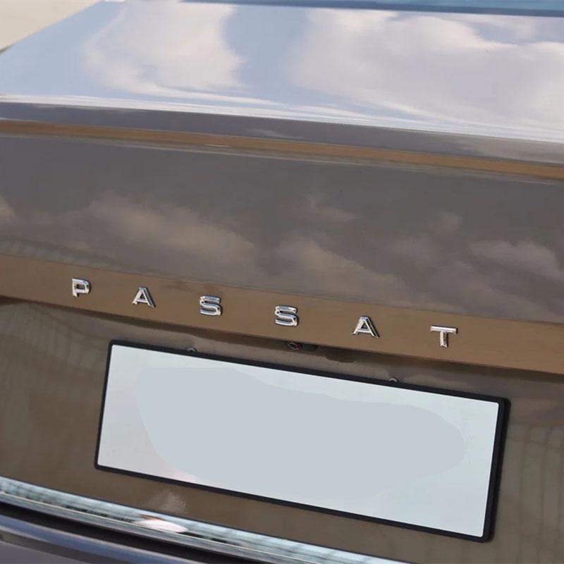 3D Font Letters Emblem for PASSAT Car Styling Refitting Middle Trunk Logo Badge Sticker for VW Chrome Matte Black Glossy Black