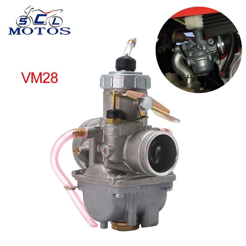 Sclmotos- Mikuni Carburetor Round Slide VM Series VM28 32mm Manual Damper Carb 2T /4T Engine for Yamaha ATV Motocross Enduro