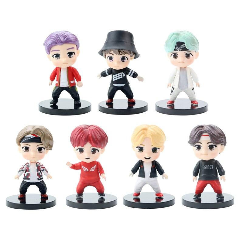 7 шт./лот KPOP Bangtan Boys TinyTAN корейские персонажи группы модели игрушки экшн-Фигурки Игрушки для девочек игрушки
