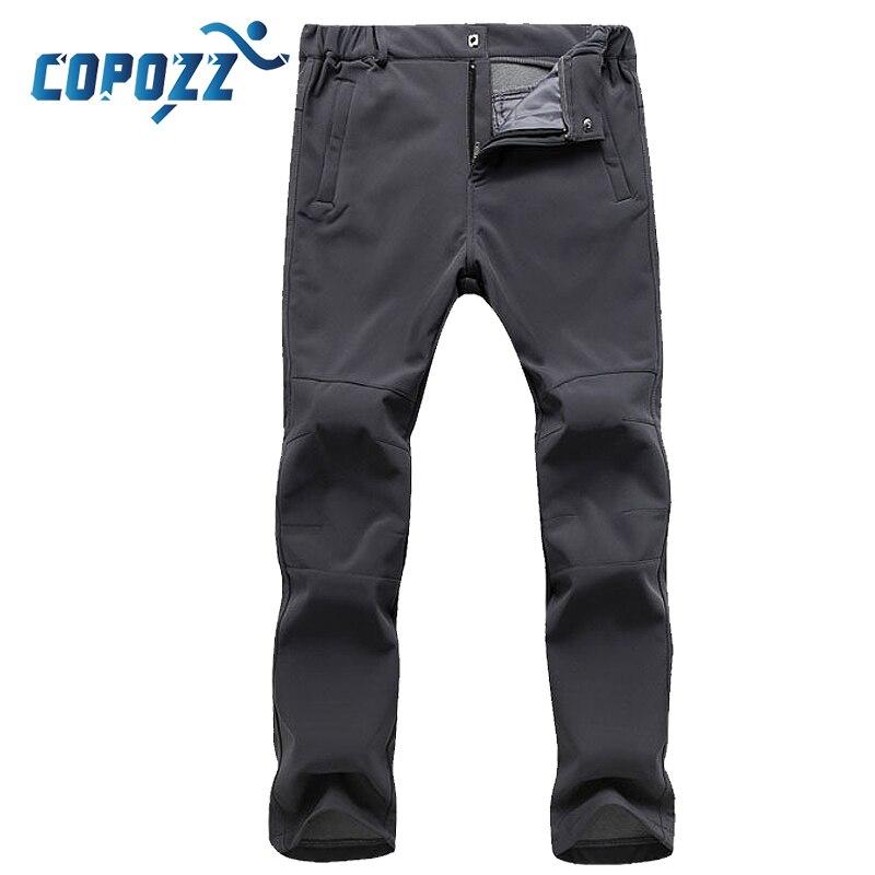 COPOZZ pantalones de senderismo de lana de secado rápido impermeable 3D slim fit pantalones al aire libre Ttrekking pantalones de Camping para pescar para hombres y mujeres