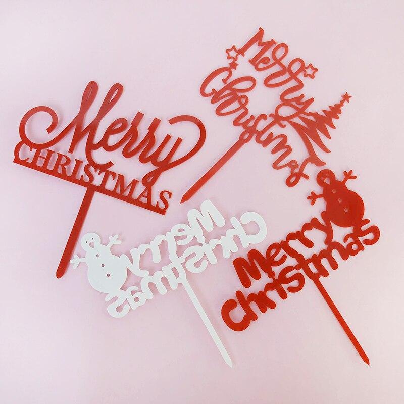 Adorno de Pastel de Navidad 1p Feliz Año Nuevo, decoración de tartas,...