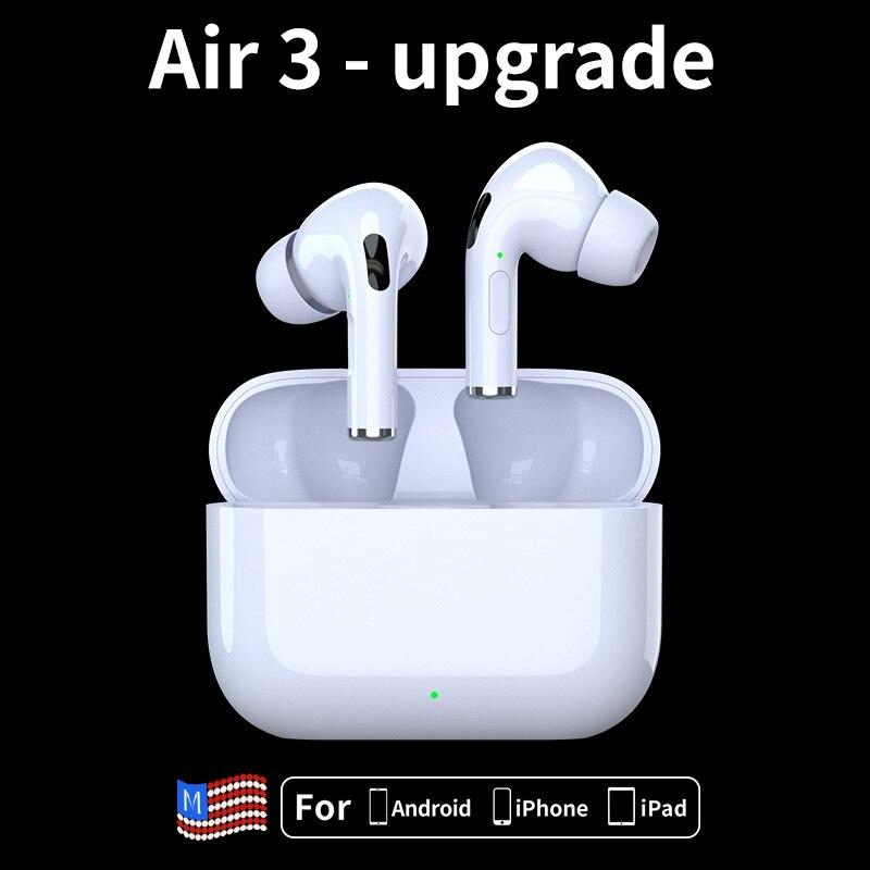 Airpodding 3 auriculares inalámbricos con Bluetooth TWS auriculares manos libres auriculares estéreo en el oído para iPhone xiaomi huawei