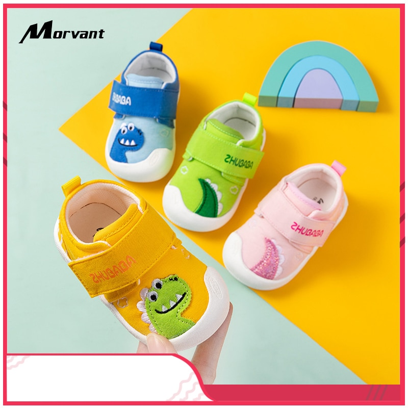 Baby Shoes Cartoon Canvas Baby Toddler shoes Soft Non-slip Boys Girls First Walkers Casual indoor Infant Footwer