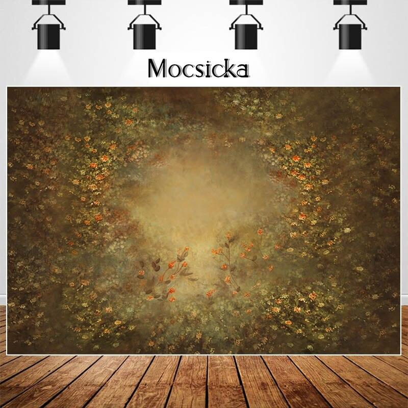 Mocsicka Retro Floral Newborn Baby Portrait Photography Backdrops Spring Flower Children Birthday Backgrounds for Photo Studio enlarge