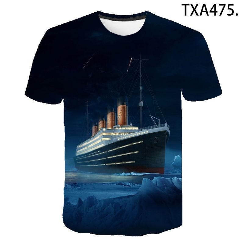Titanic 3D Print T Shirt Men Women Children Summer Short Sleeve Love TV Titanic Fashion T-shirt Harajuku Boy Girl Cool Tops Tee недорого