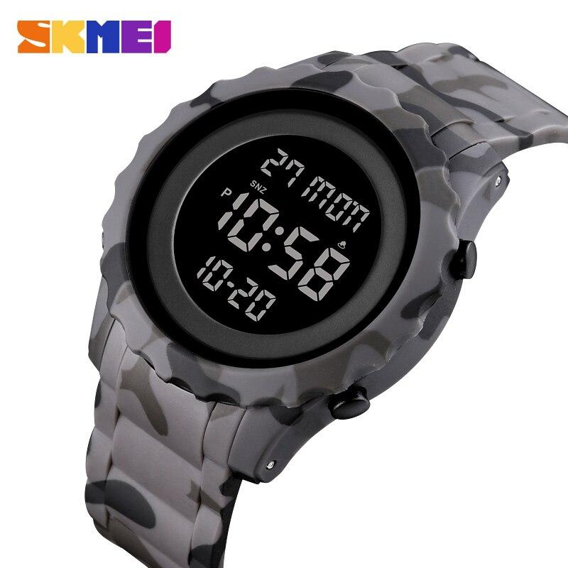 Relógio digital marca de luxo skmei relógio de pulso fashio esporte do menino relógios contagem para baixo relógio à prova dwaterproof água dos homens despertador montre homme