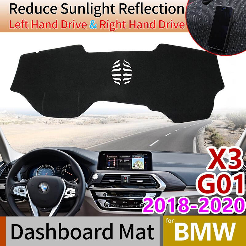Para bmw x3 g01 2018 2019 2020 anti-derrapante anti-uv esteira painel capa almofada sun sombra dashmat proteger tapete acessórios do carro almofada