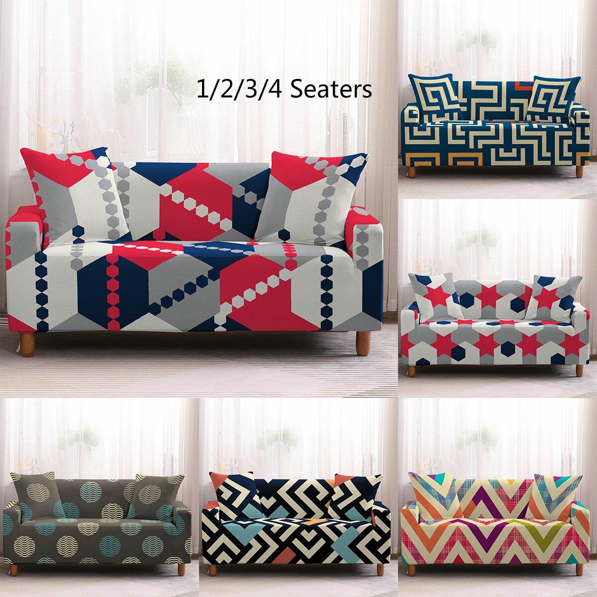 Fundas elásticas geométricas de estilo nórdico fundas de sofá elásticas seccionales para sala de estar funda de sofá funda para sillón