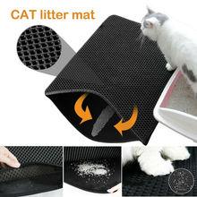 Foldable Double-Layer Cat Litter Box Mat Trapper Foldable Pad Pet Rug EVA Foam Rubber New