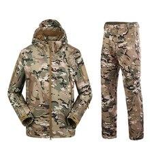 Militaire TAD Camouflage peau de requin coquille souple costumes tactiques hiver automne imperméable à leau polaire équipement de Combat hommes vêtements costume