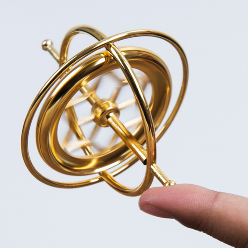 Scientific Educational Metal Finger Gyroscope Gyro Top Pressure Relieve Classic Toy Traditional Learning Toy For Kids enlarge
