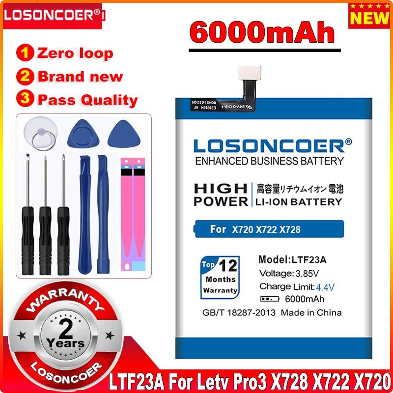 6000mAh LT633 LTF26A LTF23A LTF21A LTH21A batería para LeEco Letv Le MAX 2 X821 X820 X822 1 Max X900 Pro 3 X650 X728 X720 X722