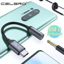 USB tip C 3.5mm kulaklık jakı Aux ses kablosu adaptörü için Xiaomi Mi 10 9 Oneplus 7 pro samsung S20 S10 Tipo c USB adaptörü