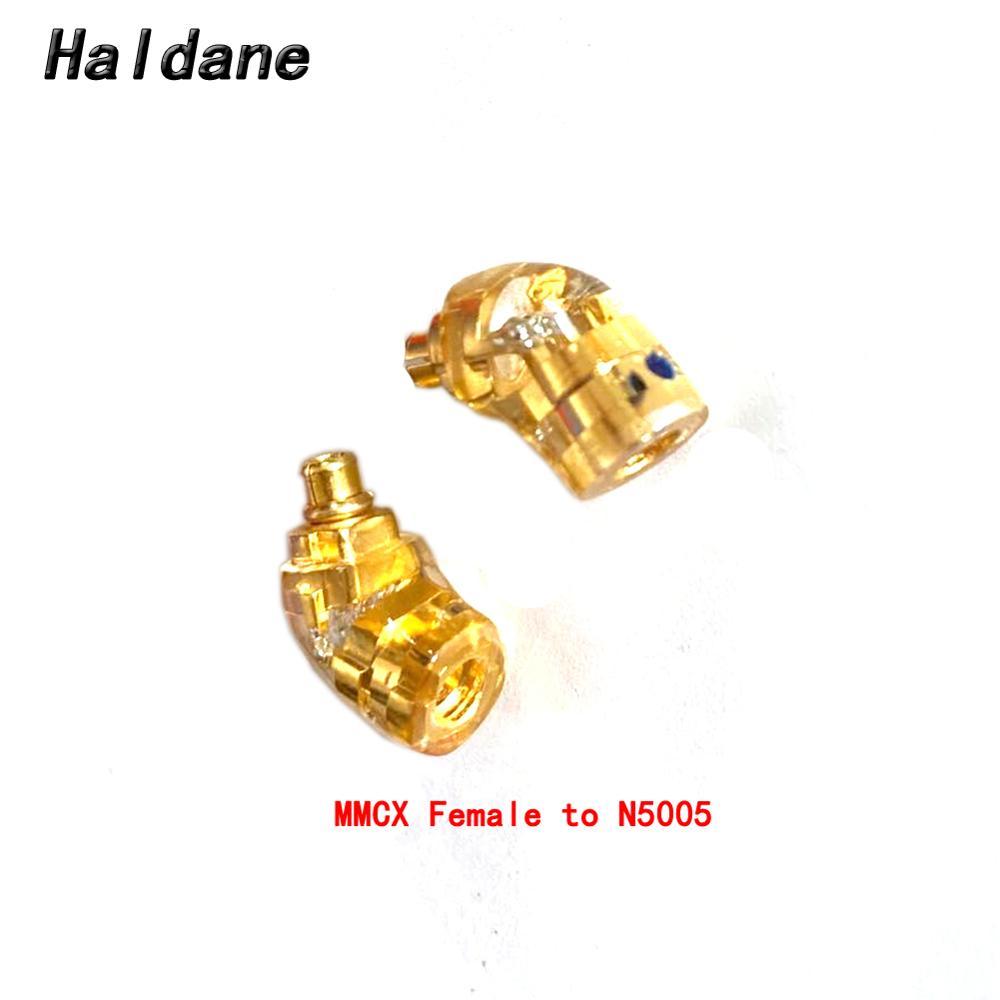 Haldane ايفي سماعة التوصيل ل N5005 الذكور إلى MMCX/0.78 مللي متر الإناث تحويل محول MMCX/0.78 إلى A-K-G N5005 سماعة