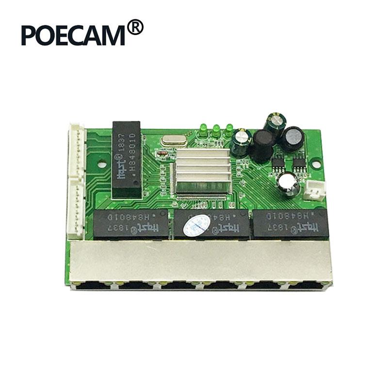 8 port unmanage gigabit switch module 6 ports 10/100/1000mbps rj45 2PCS 8pin Header Taiwan realtek manufacturer Chip RTL8370