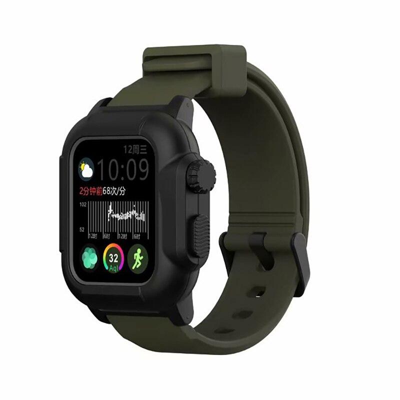 Funda impermeable a prueba de golpes resistente a impactos para Apple Watch series 3 2 banda de silicona suave iwatch Correa accesorios 42mm