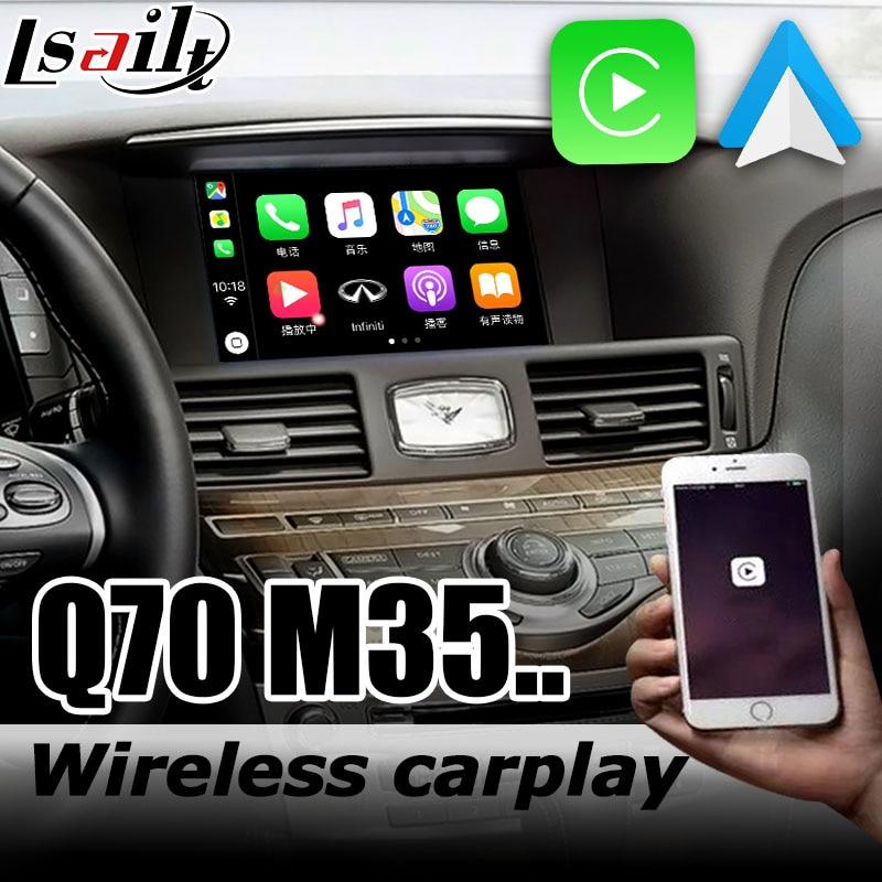 Carplay interface box for Infiniti Q70 / M35 Y51 2009-2019 with G QX5 QX60 QX70 QX80 M25 Fuga Cima Android auto youtube play