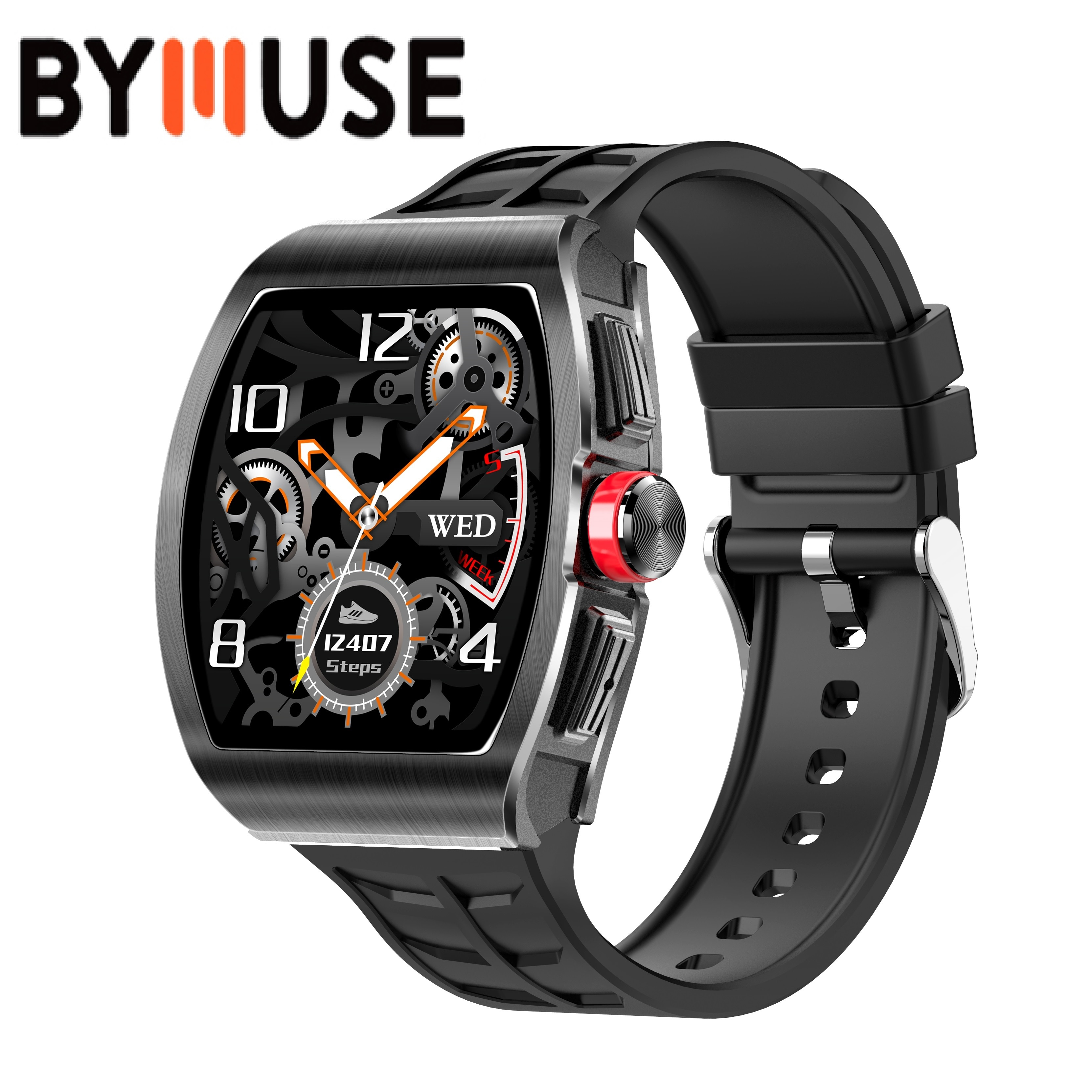 BYMUSE TK18 Smart Watch Women Men  For Android IOS Clock Fitness Tracker Heart Rate Blood Pressure M