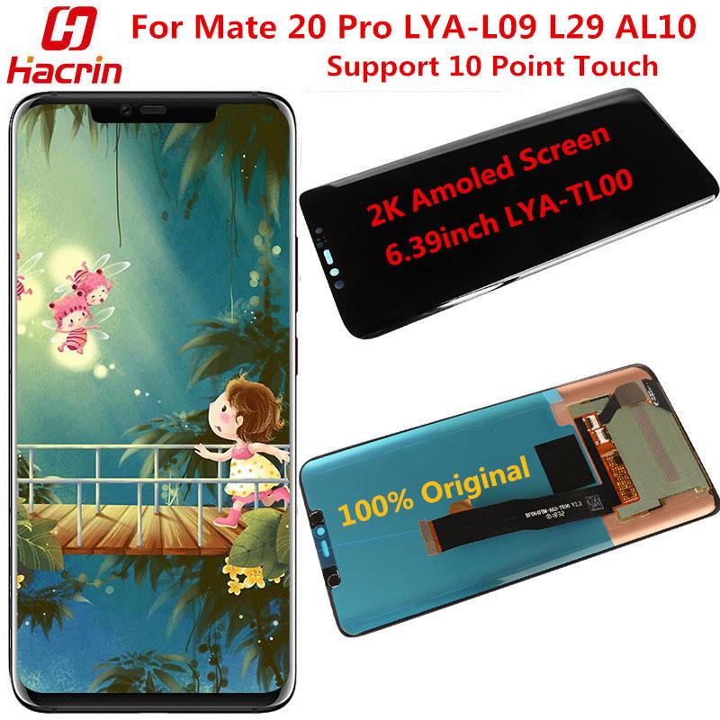 Para Huawei Mate 20 Pro Original pantalla LCD + pantalla táctil con 10 punto de contacto No píxel muerto 2K, sustitución de pantalla para amigo 20 Pro