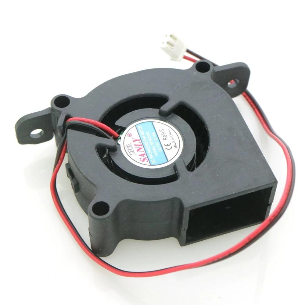 SF5020SL 12V 0.10A 5 سنتيمتر 50*50*20 مللي متر 2Pin ل جدا هادئة المرطب توربو التبريد مروحة